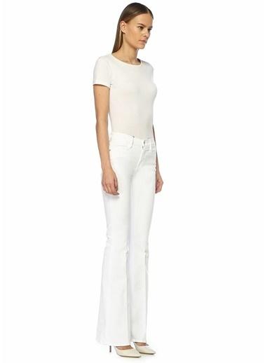 Frame Denim Yüksek Bel Skinny Jean Pantolon Beyaz